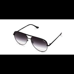 NEW! QUAY Australia High Key Black Fade Sunglasses